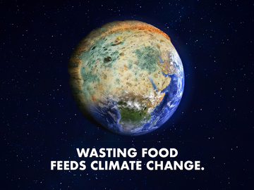Food Waste Action Week 2021 mouldy planet icons