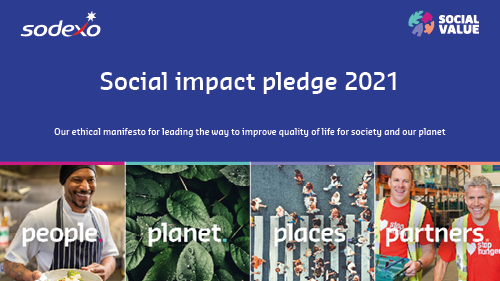 Social Impact pledge 2021 front cover - people, planet, places, partners