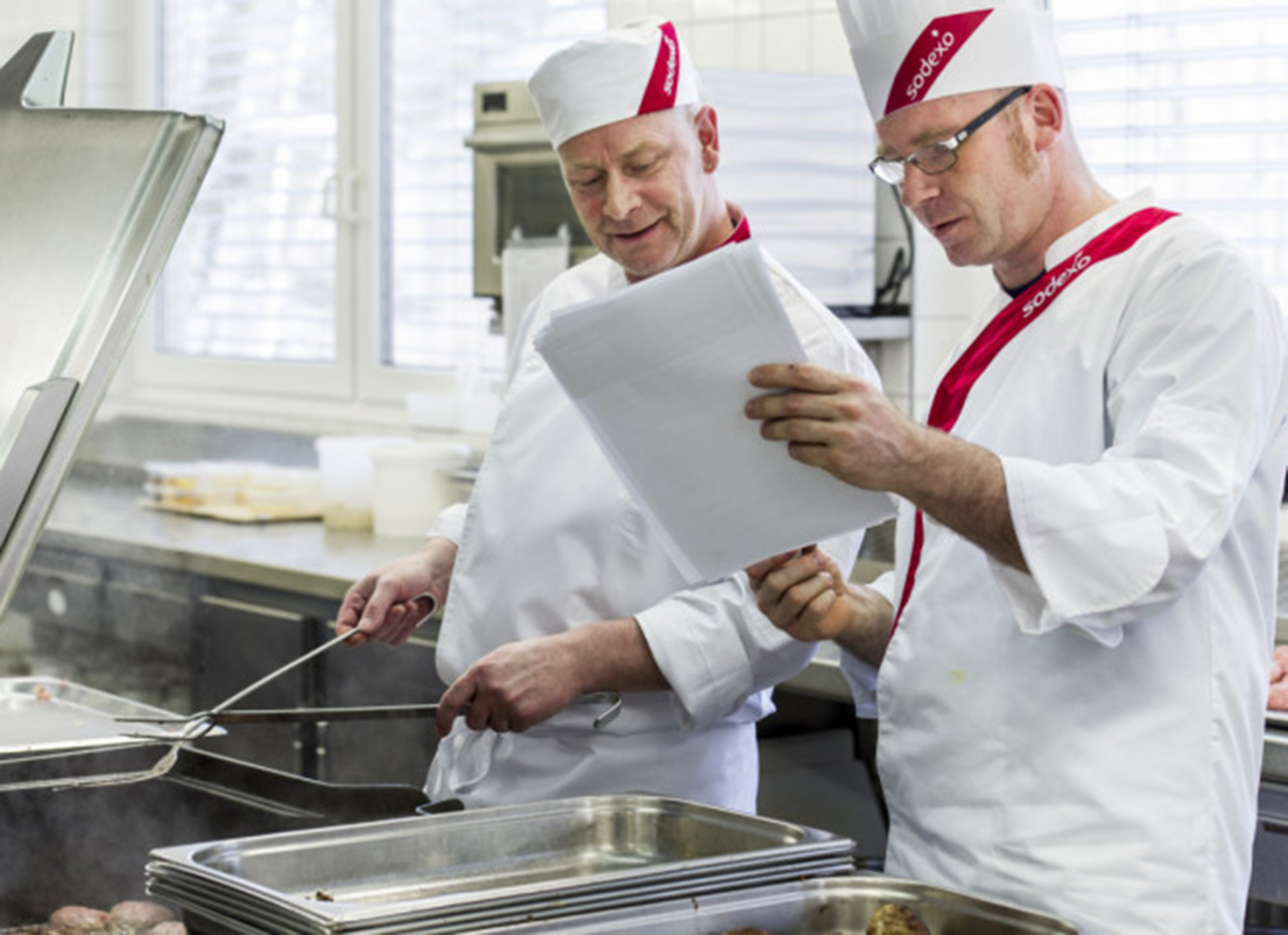 Chefs cooking at a school in Romford