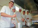 Aberdeen FC Youth Squad train to become pros in the kitchen