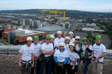 Sodexo NI abseils down Ireland's tallest building for charity