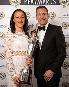 Chris Bray and Lucy Bronze