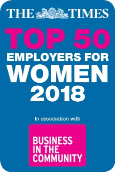 The Times Top 50 Employers for Women 2018 logo