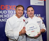 Chef of the Year Winner 2016 with Raymond Blanc